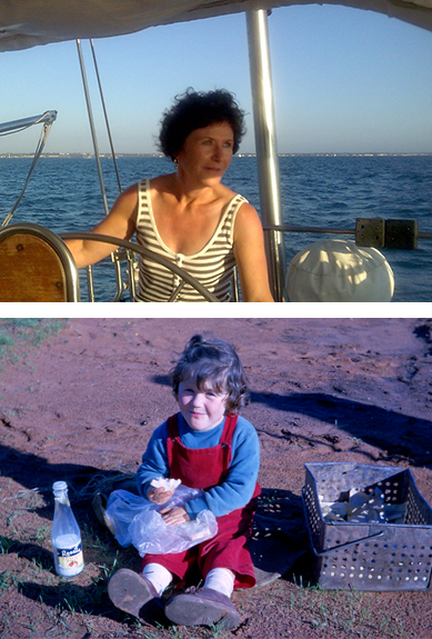 Sally Sailing and as a Child